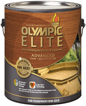 Olympic ELITE Advanced Stain + Sealant in One Semi-Transparent