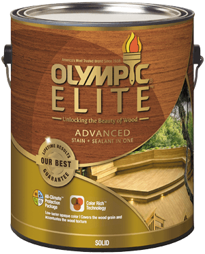 Olympic<sup>&reg;</sup>ELITE&trade; Advanced Stain + Sealant in one Solid
