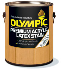 Olympic Acrylic Latex Stain 18,9 liter (5 gall.) houtkleur
