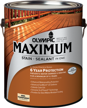 Olympic&#174; Maximum&#174; Stain + Sealant in One