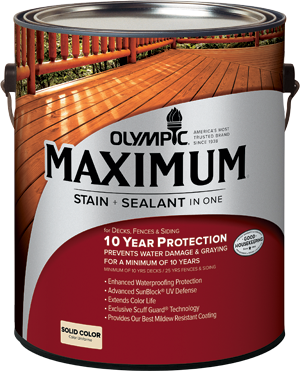 Olympic®  Maximum® Stain + Sealant in One