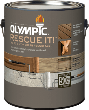 Olympic<sup>&reg;</sup> RESCUE IT!&trade; Wood and Concrete Resurfacer