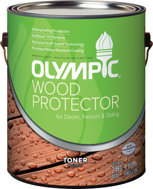Olympic&#174; WOOD PROTECTOR Stain + Sealant in One