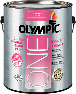 Olympic® ONE Interior Color Changing Ceiling Paint